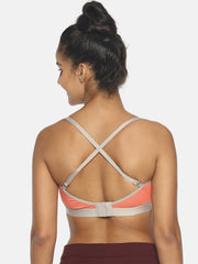 BRAG Triangle Hook Back Bralette-Peach