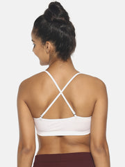 Miss Brag Scooped Neck Bra - White