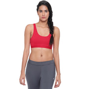 BRAG Classic Hook Back Unpadded Yoga Bra - Red