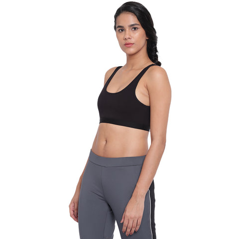 BRAG Classic Hook Back Yoga Bra - Black