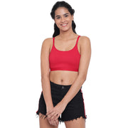 BRAG Classic Multiway Hook Back Unpadded Bralette - Red