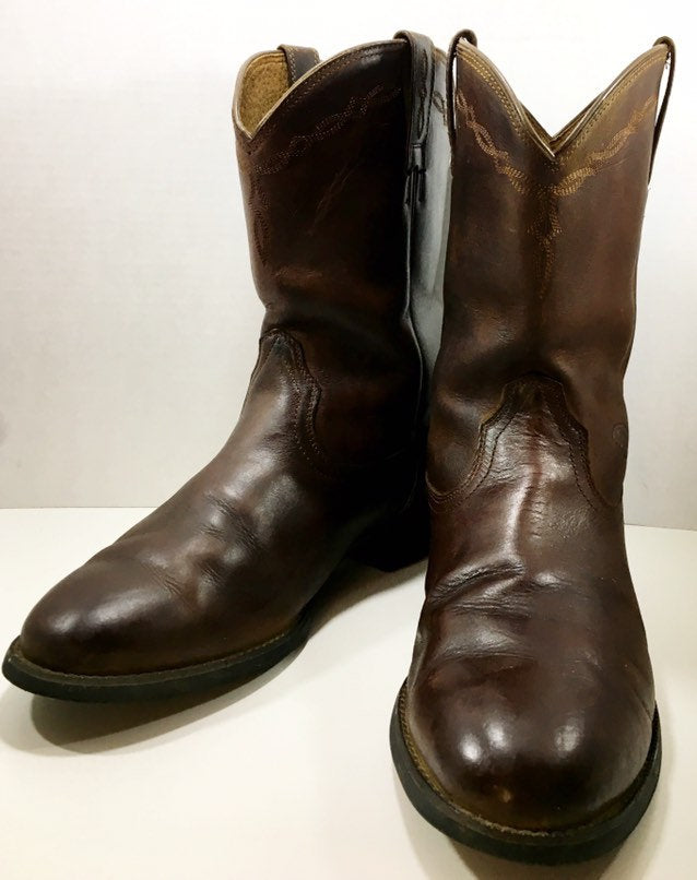 Brown Men's Ariat Cowboy Work Boots size 9.5 E