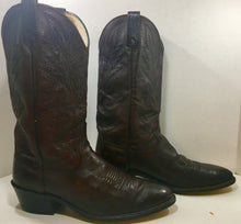 Dark Burgundy Dan Post Cowboy Boots men's size  10 1/2D