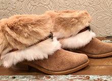GOT Fur and Suede Cowgirl Booties Acme size 9