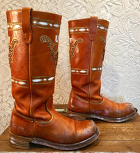 Burnt Orange University Of Texas Longhorn Tall Campus Boots SIze 7 1/2M