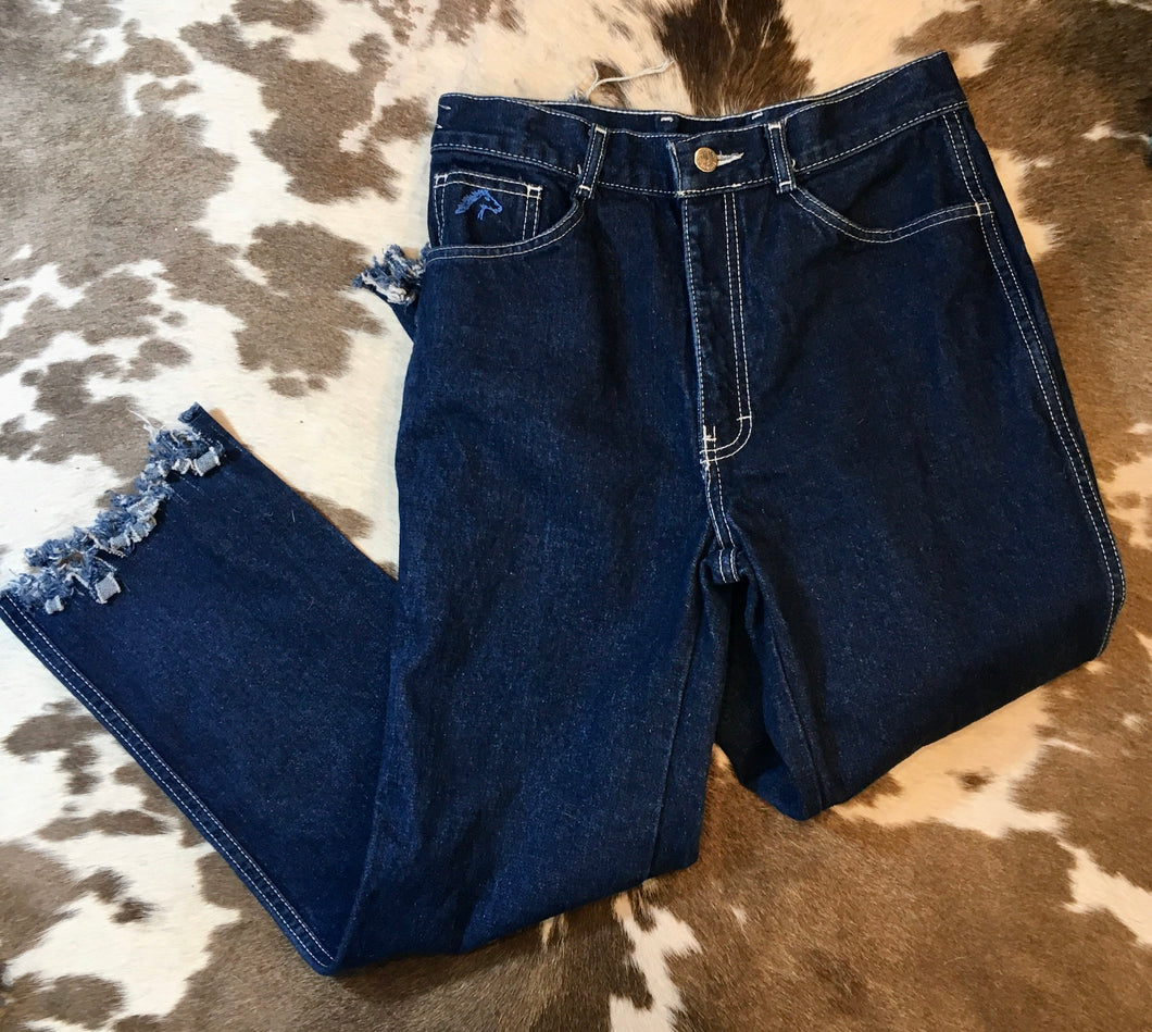 High Waisted Vintage Jordache Cropped Cutoff Jeans size 9