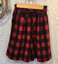 1980s Buffalo Plaid Wool Palazzo Shorts size xs