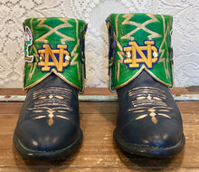 Handcrafted University of Notre Dame ND Fighting Irish Tony Lama Cowgirl booties size 8 M