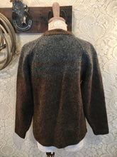 Vintage Brown and Grey Alpaca Sweater women's size Small to Medium