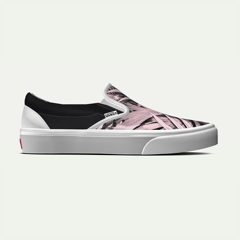 Vans Men's Custom Pink Botanical Classic Slip-On