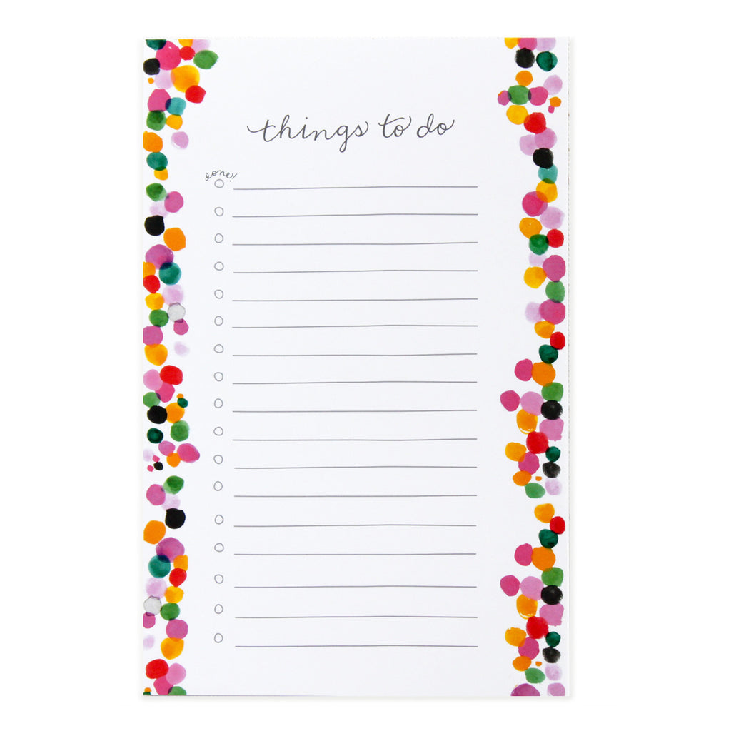 Things To Do Dots Notepad