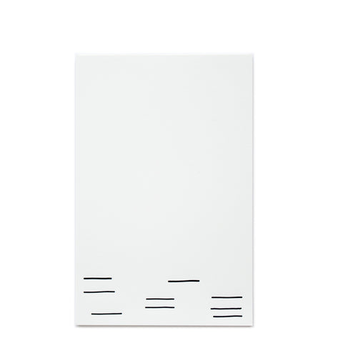 Linespace Letterpress Notepad