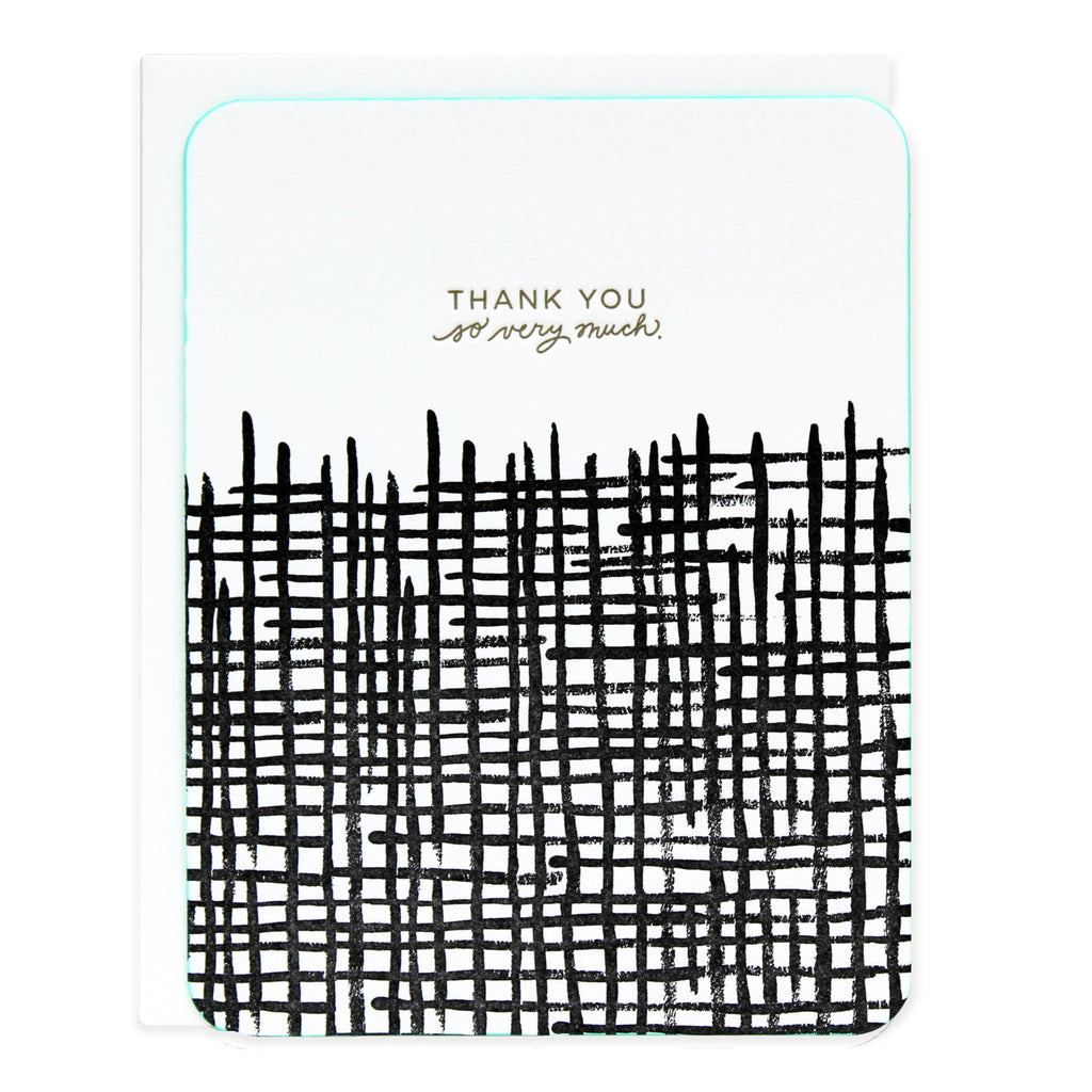Thank You Crosshatch Pattern