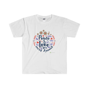 'Peace and Love for Every Animal' T-Shirt