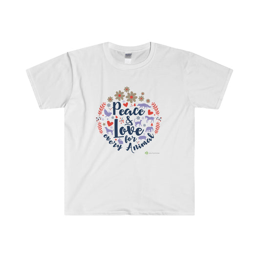 'Peace and Love for Every Animal' T-Shirt - Lady Freethinker Store