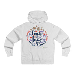 'Peace and Love for Every Animal' Hoodie