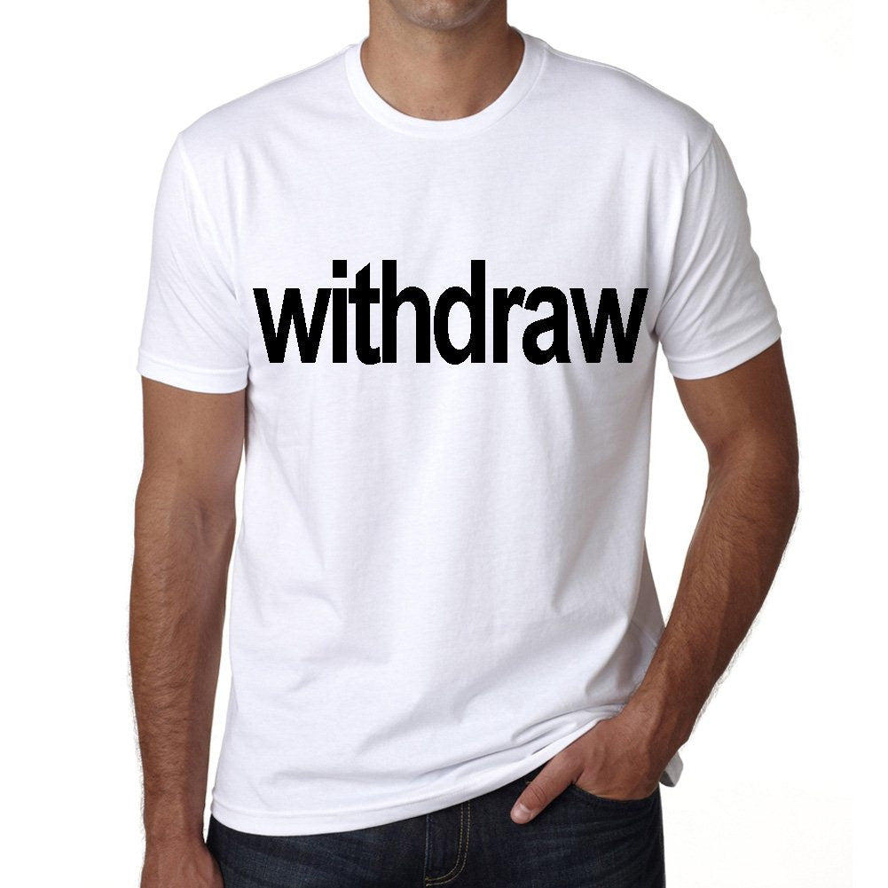 withdraw Men's Short Sleeve Rounded Neck T-shirt