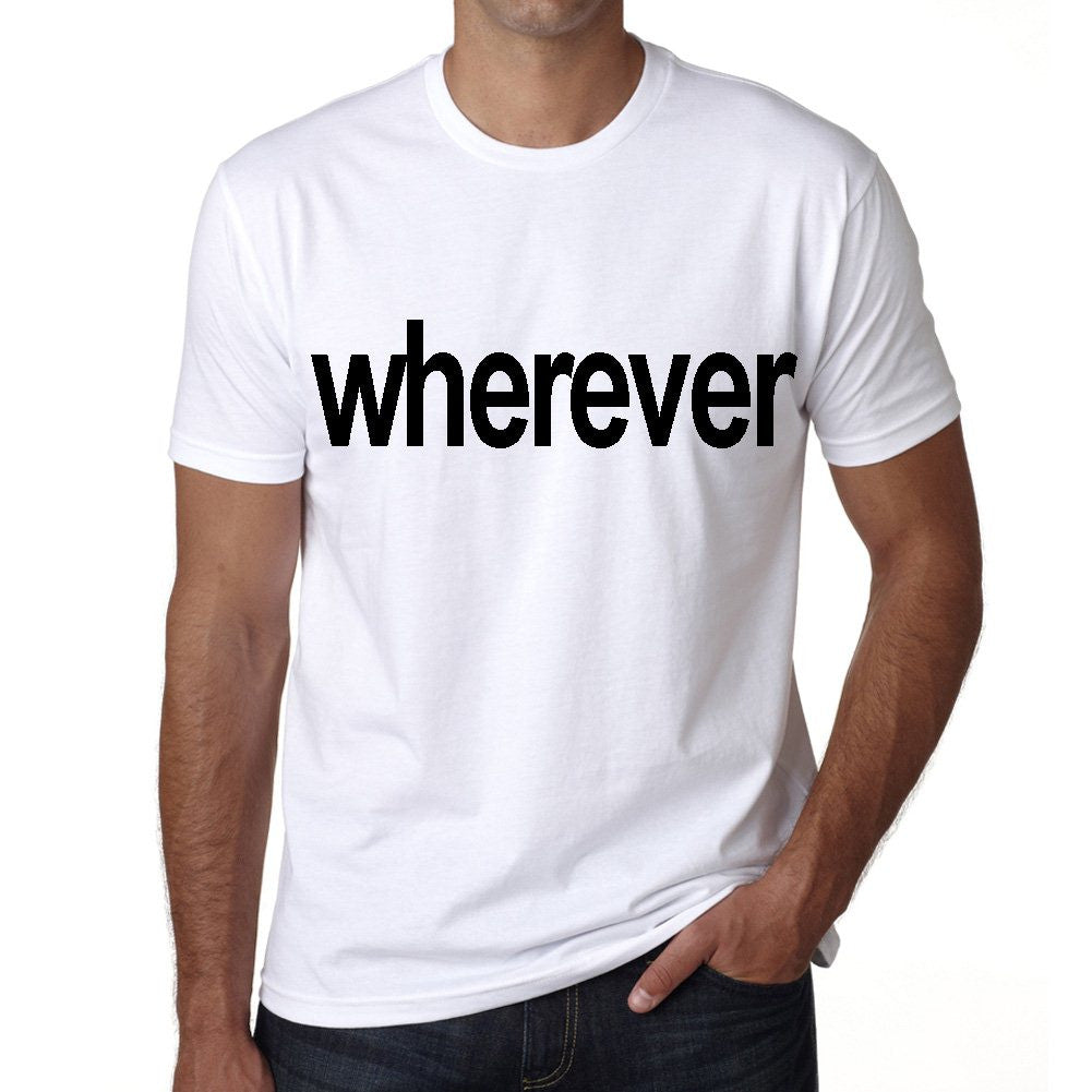 wherever Men's Short Sleeve Rounded Neck T-shirt