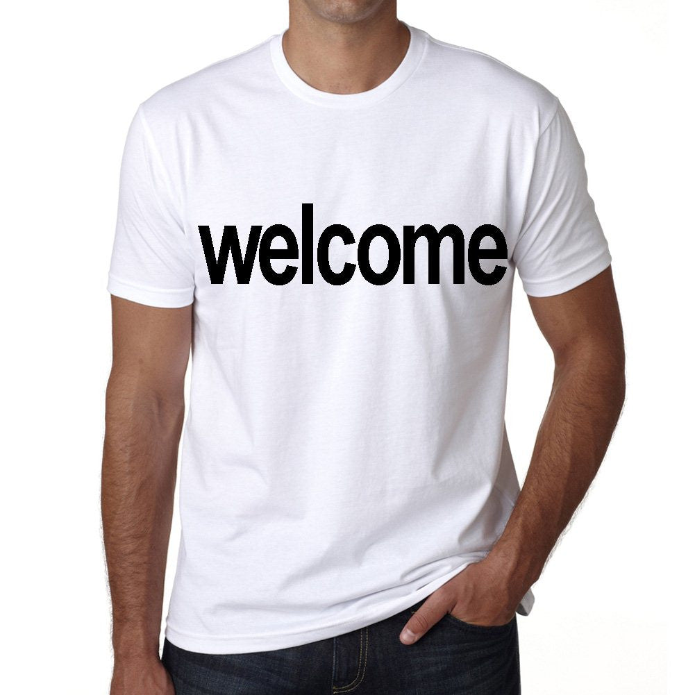 welcome Men's Short Sleeve Rounded Neck T-shirt