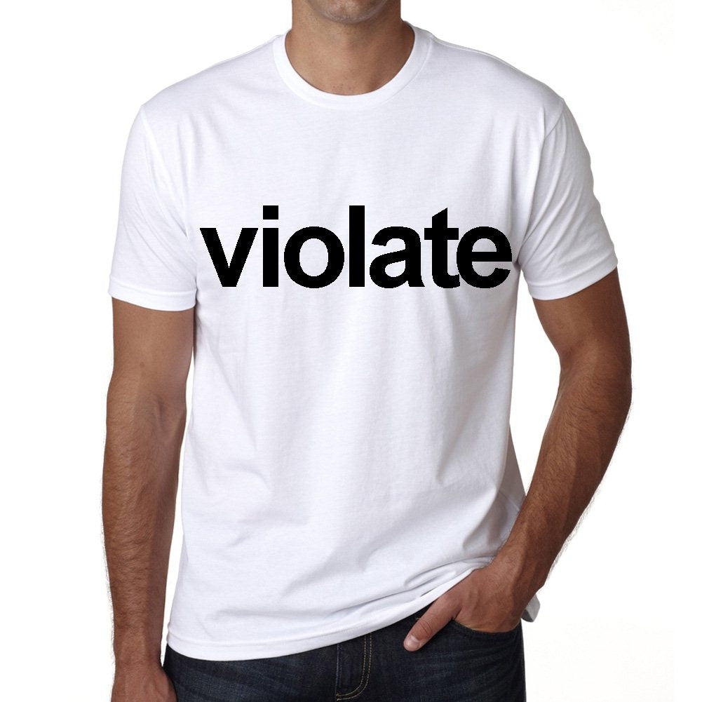 violate Men's Short Sleeve Rounded Neck T-shirt