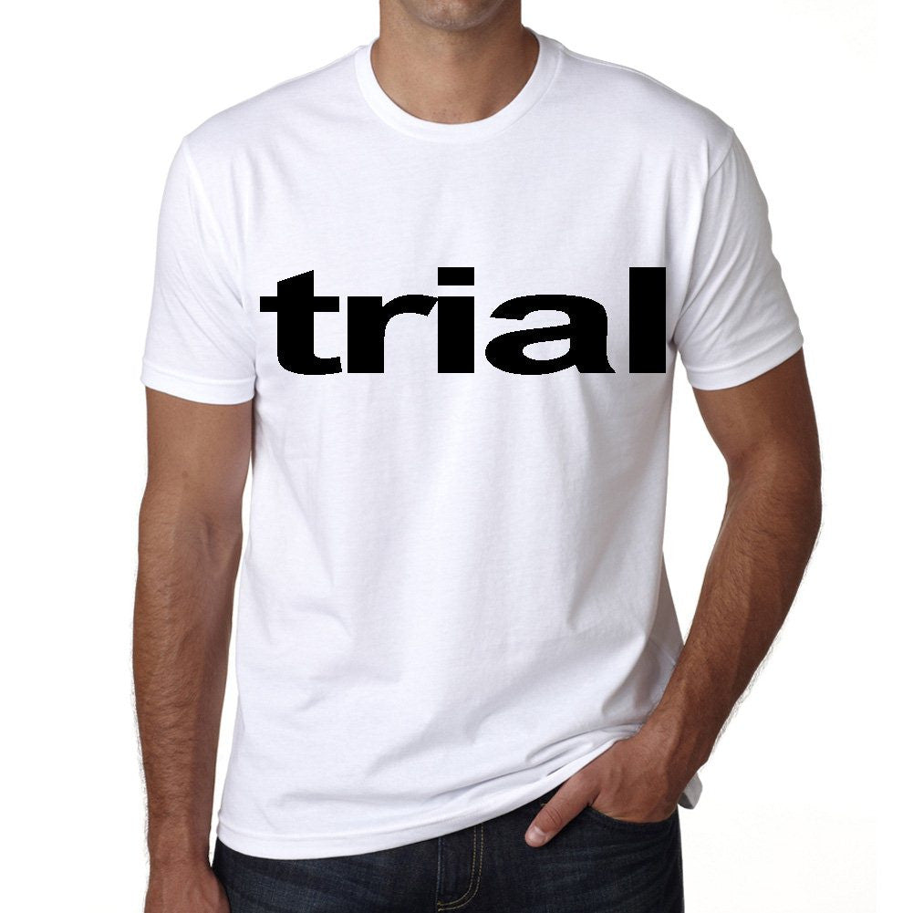 trial Men's Short Sleeve Rounded Neck T-shirt