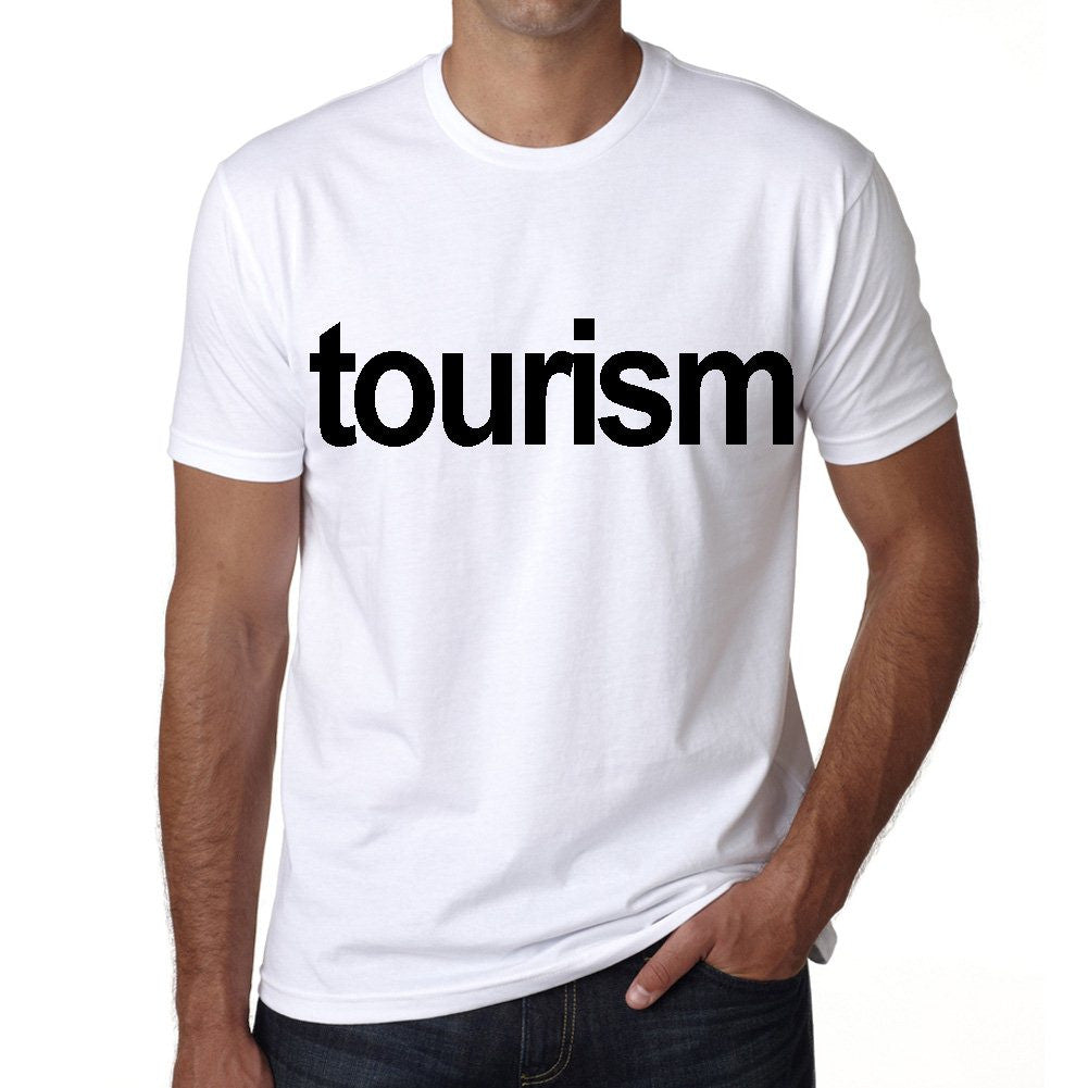 tourism Men's Short Sleeve Rounded Neck T-shirt