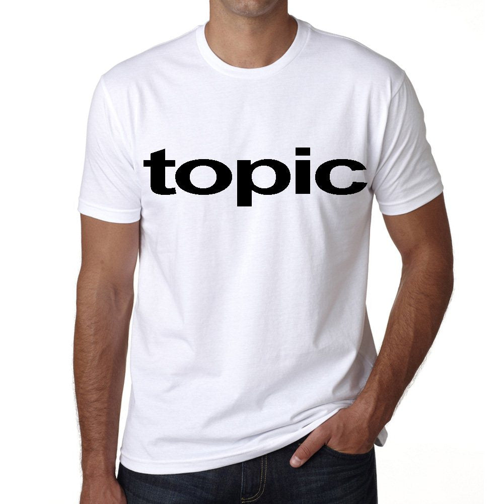 topic Men's Short Sleeve Rounded Neck T-shirt