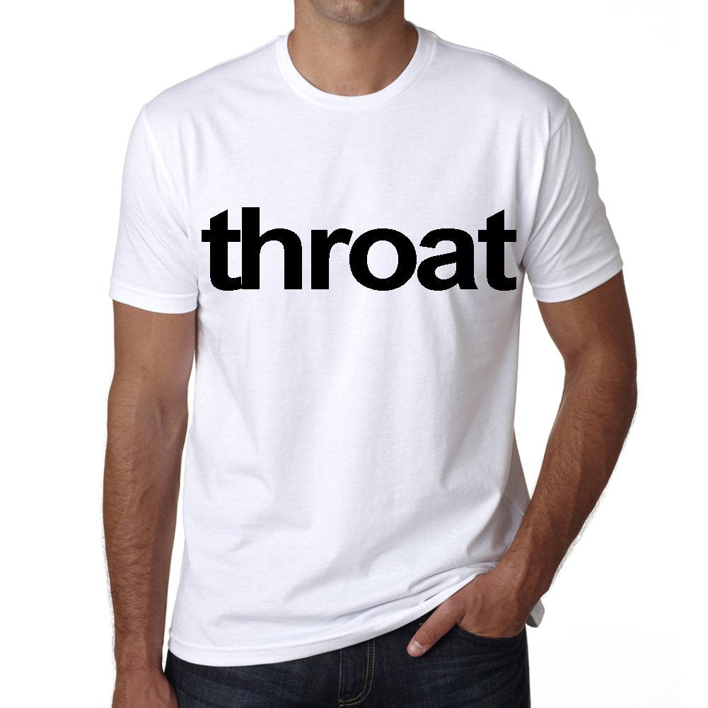 throat Men's Short Sleeve Rounded Neck T-shirt