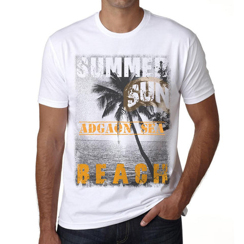 Adgaon Sea ,Men's Short Sleeve Rounded Neck T-shirt