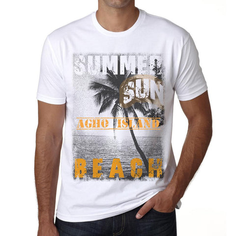 Agho Island ,Men's Short Sleeve Rounded Neck T-shirt