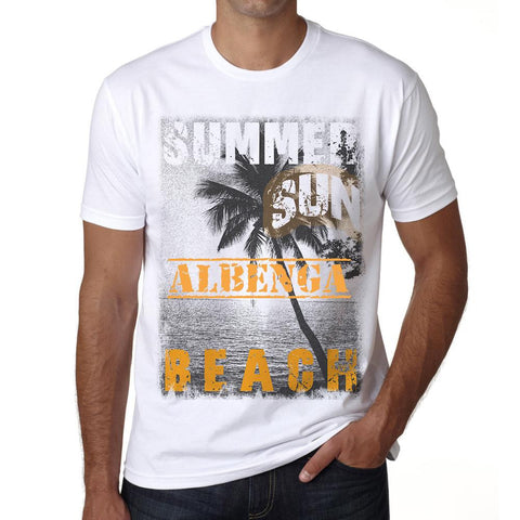 Albenga ,Men's Short Sleeve Rounded Neck T-shirt