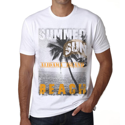Alidama Island ,Men's Short Sleeve Rounded Neck T-shirt