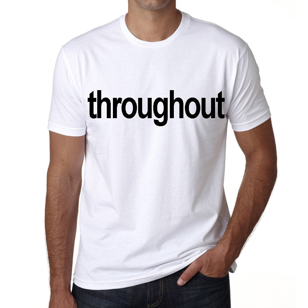throughout Men's Short Sleeve Rounded Neck T-shirt