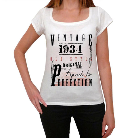 1934 birthday gifts ,Women's Short Sleeve Rounded Neck T-shirt