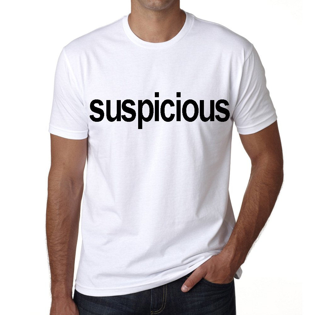 suspicious Men's Short Sleeve Rounded Neck T-shirt