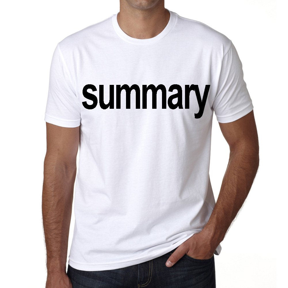 summary Men's Short Sleeve Rounded Neck T-shirt
