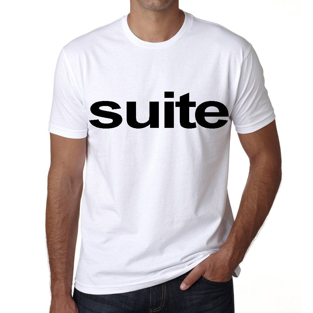 suite Men's Short Sleeve Rounded Neck T-shirt