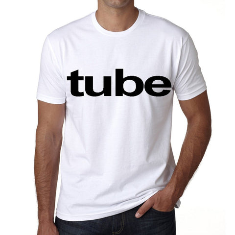 tube Men's Short Sleeve Rounded Neck T-shirt