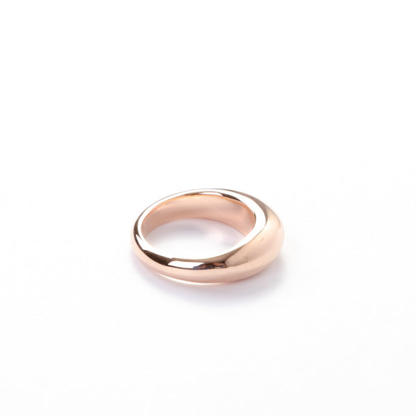 The Rose Gold Crescent Ring