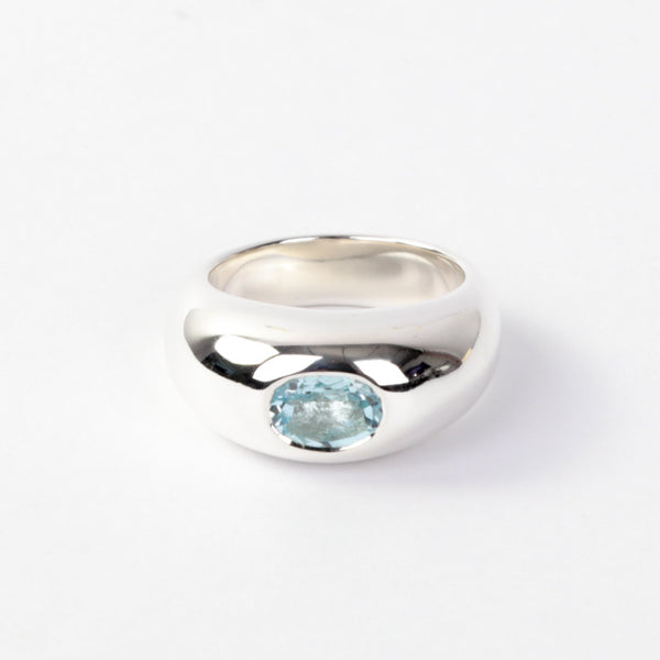 The Topaz Gypsy Dome Ring