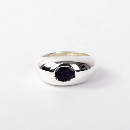 The Iolite Gypsy Dome Ring