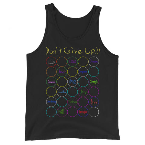 Don't Give Up Unisex  Tank Top