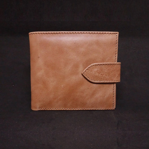 Men's Leather Wallet With Snap Closure - Premium Recycled Leather