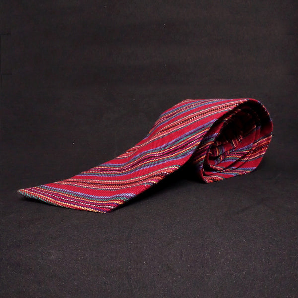 Men's Striped Woven Tie | Hummingbear Co.