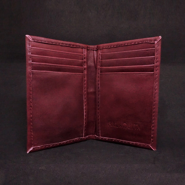 Men's Vertical Slim Wallet - Premium Recycled Leather