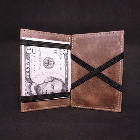 Mens Slim Leather Wallet - Magic Cash Holder