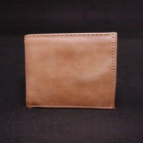 Men's Leather Bifold Wallet - Recycled Leather