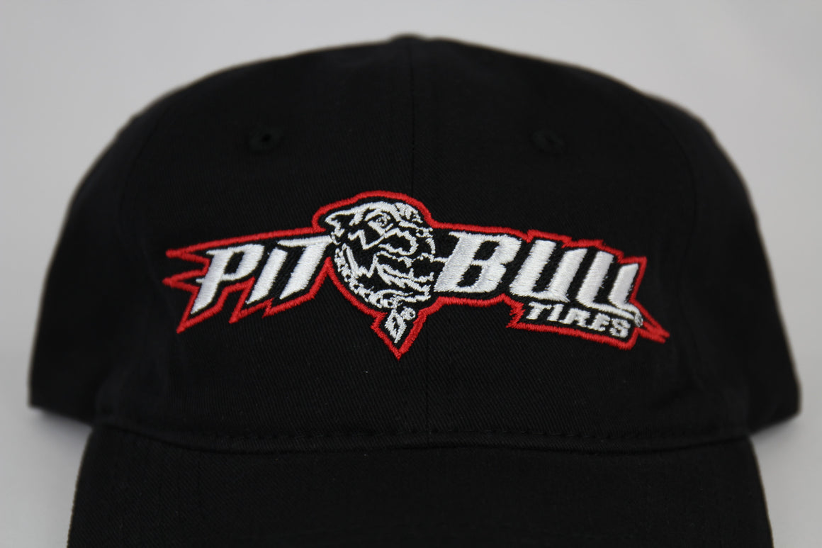 PIT BULL BLACK SPORT LOGO HAT - 1 EACH