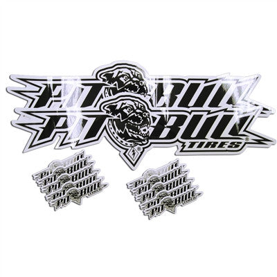 "DECAL BUNDLE PACK - PITBULL SPORT LOGO - (2) 24"" DECALS & (10) 6"" DECALS PER PACK"
