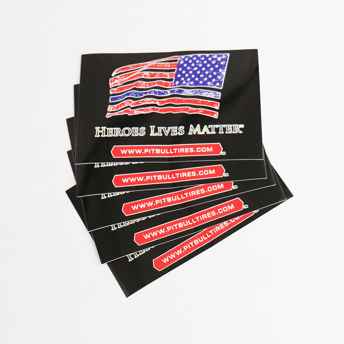 HEROES LIVES MATTER STICKERS  - 1 Sticker
